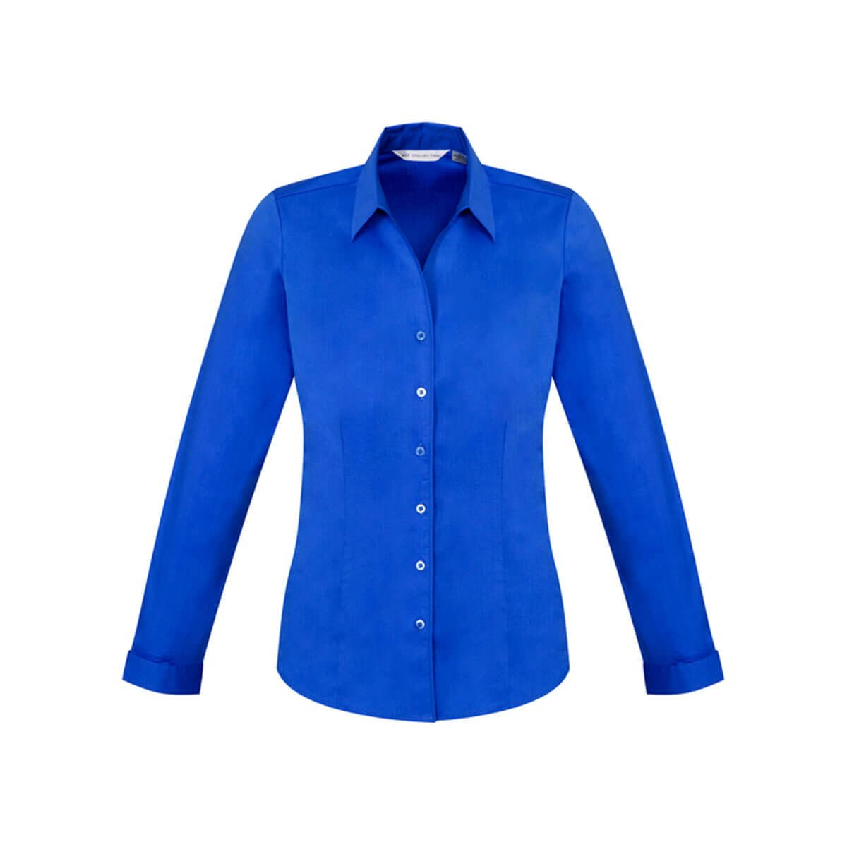 Ladies Monaco Long Sleeve Shirt-Electric Blue