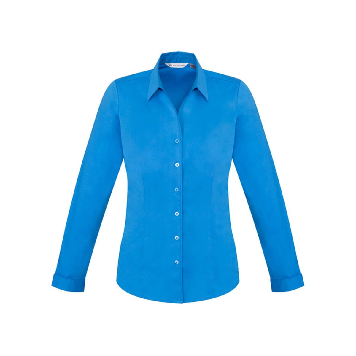 Ladies Monaco Long Sleeve Shirt-Cyan