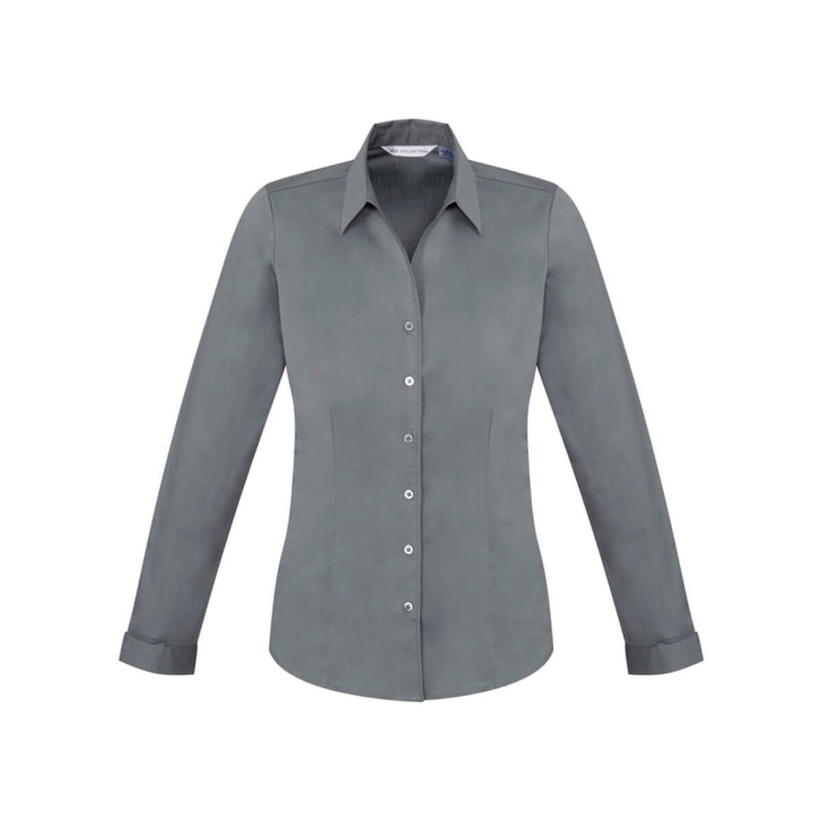 Ladies Monaco Long Sleeve Shirt-Platinum