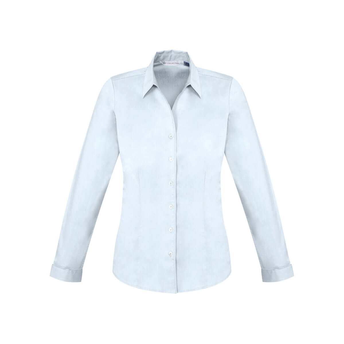 Ladies Monaco Long Sleeve Shirt-White