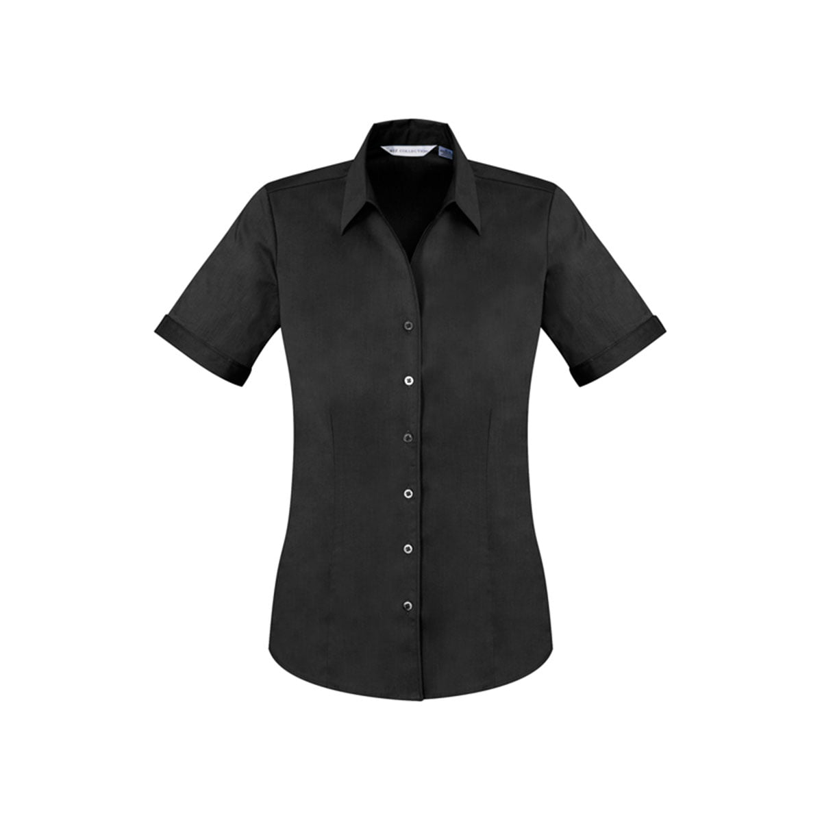 Ladies Monaco Short Sleeve Shirt-Black