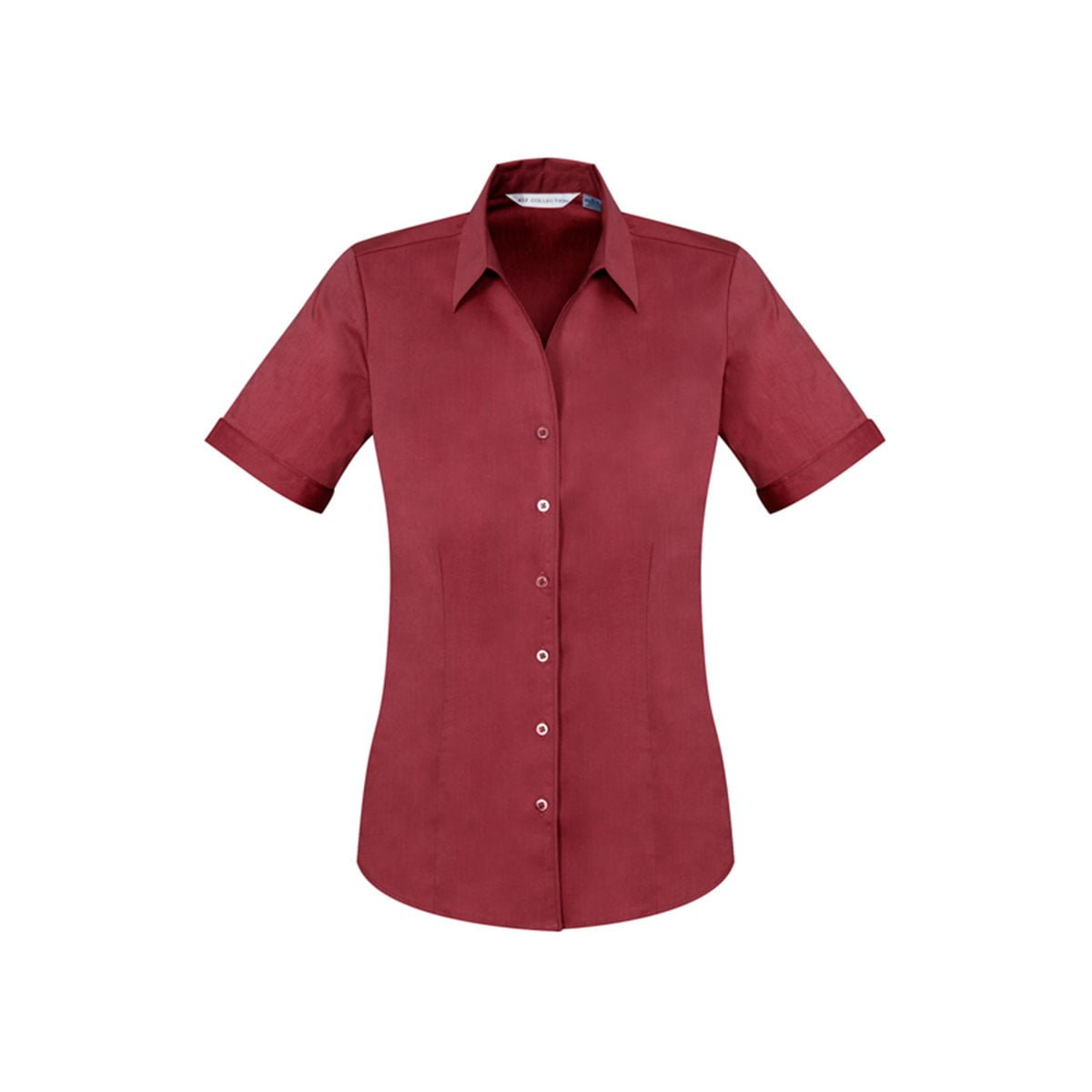 Ladies Monaco Short Sleeve Shirt-Cherry