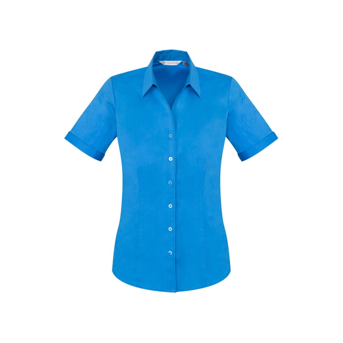 Ladies Monaco Short Sleeve Shirt-Cyan