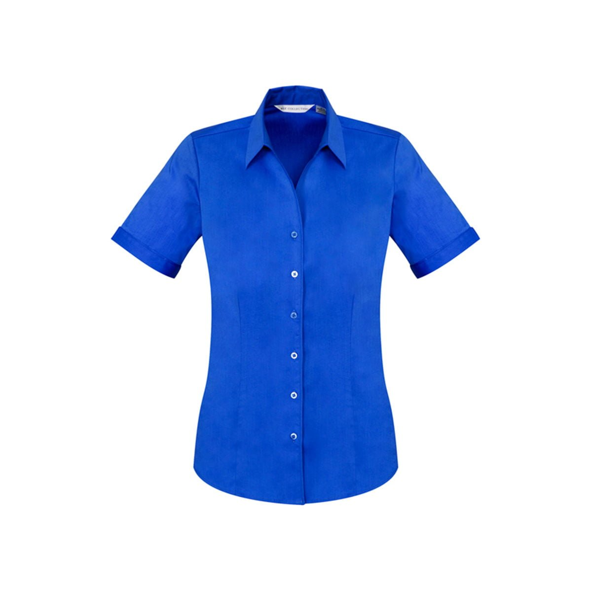 Ladies Monaco Short Sleeve Shirt-Electric Blue