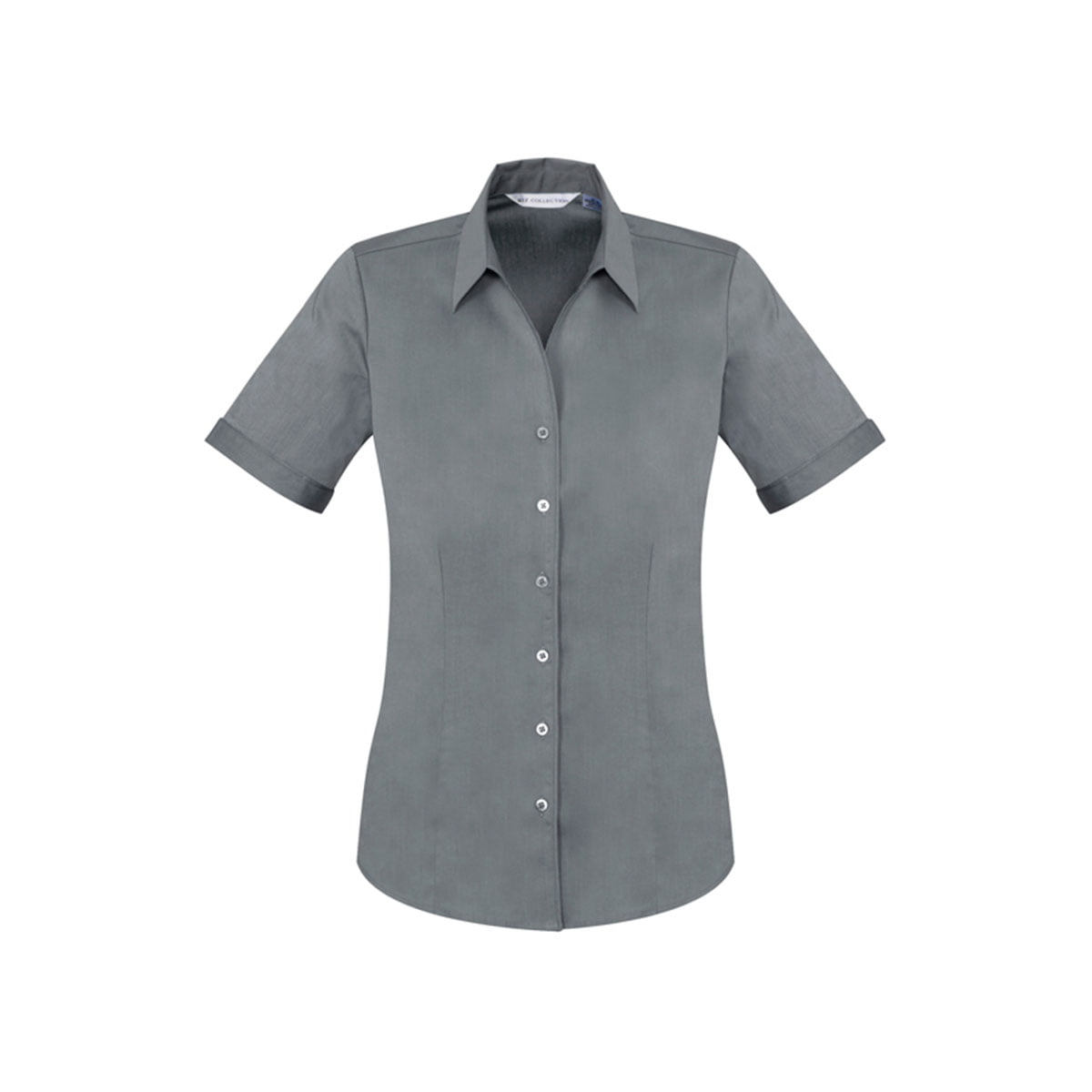 Ladies Monaco Short Sleeve Shirt-Platinum