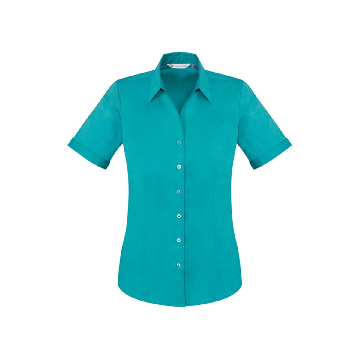 Ladies Monaco Short Sleeve Shirt-Teal