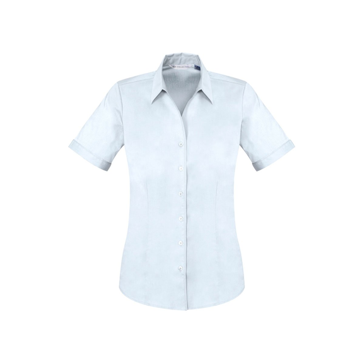 Ladies Monaco Short Sleeve Shirt-White