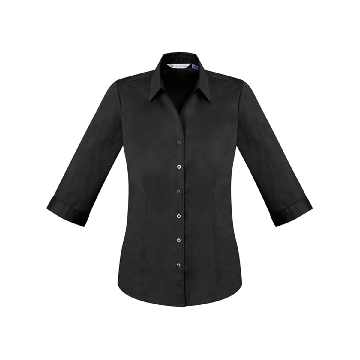 Ladies Monaco 3/4 Sleeve Shirt-Black