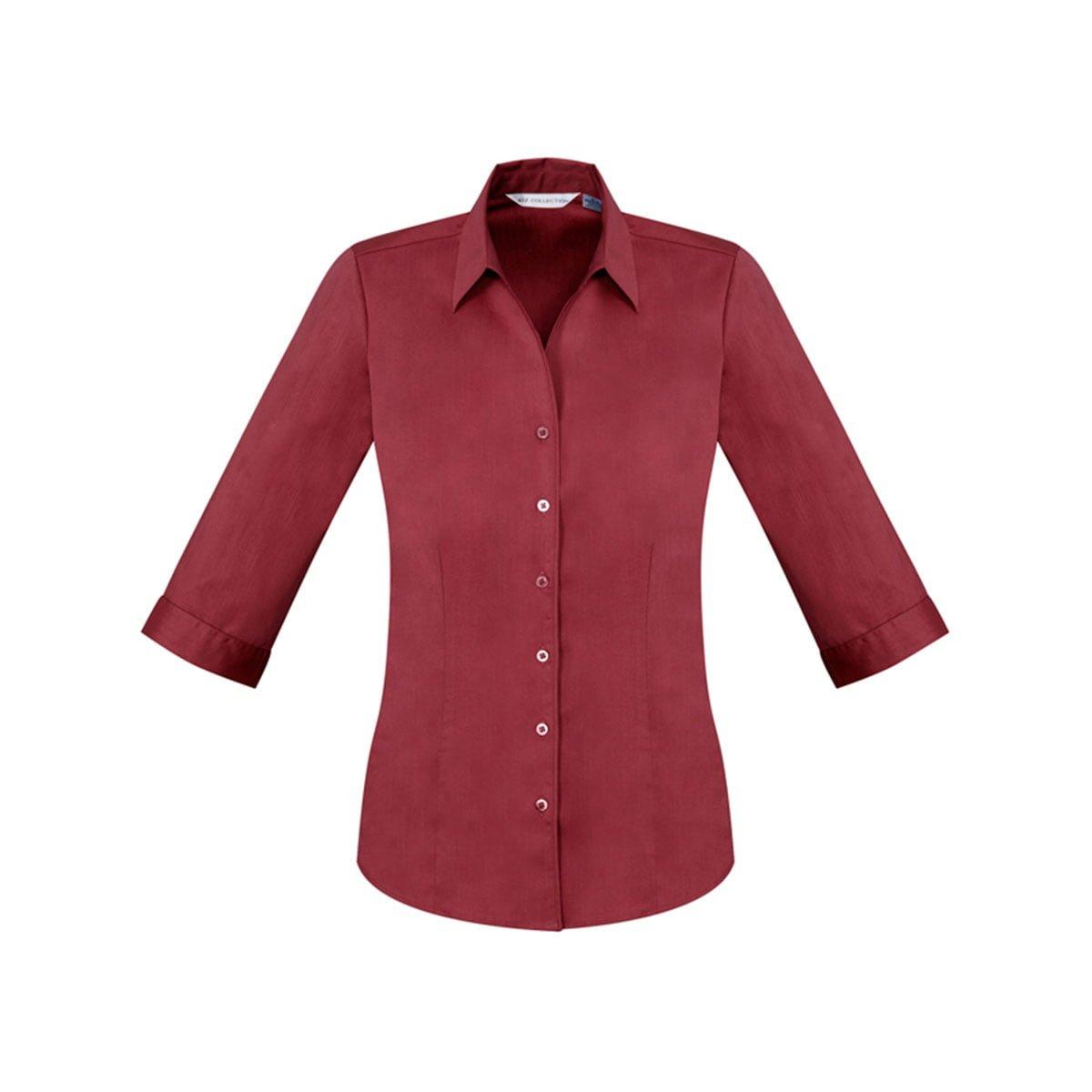 Ladies Monaco 3/4 Sleeve Shirt-Cherry