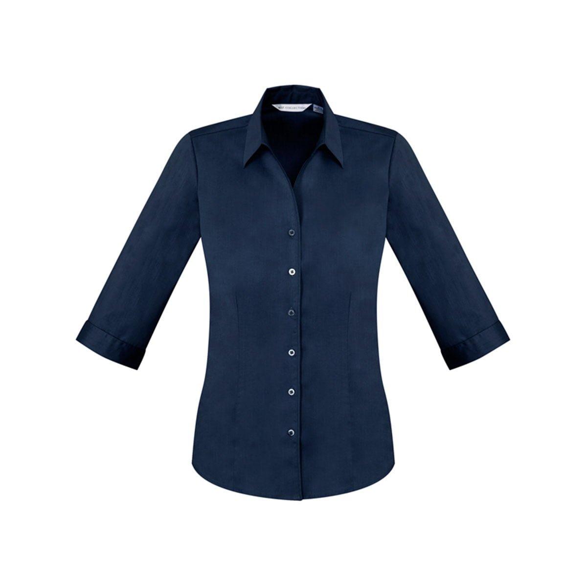 Ladies Monaco 3/4 Sleeve Shirt-Ink