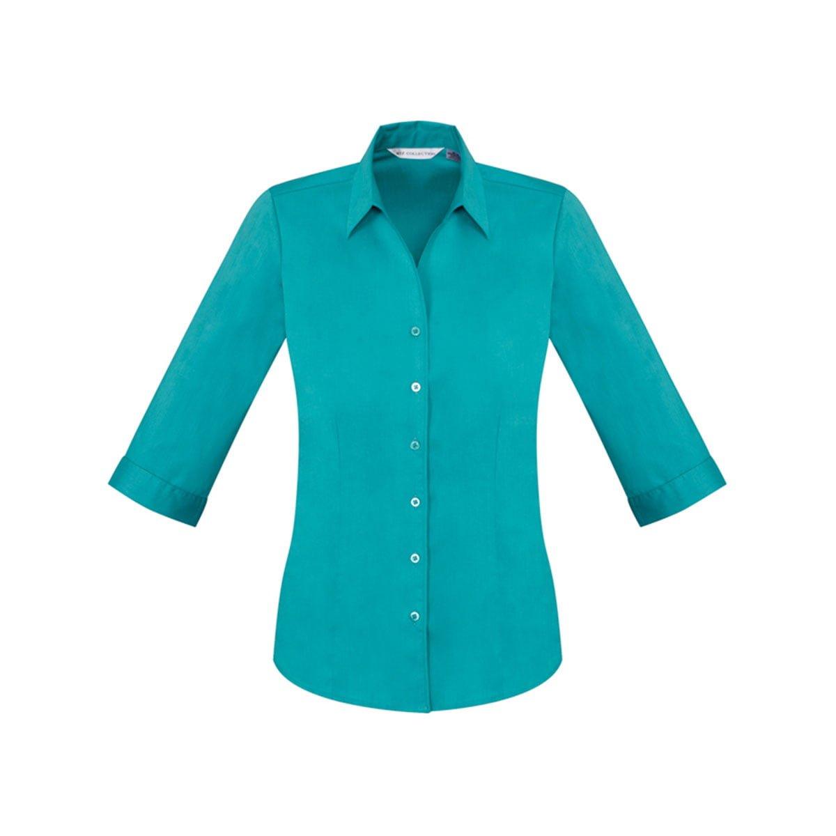 Ladies Monaco 3/4 Sleeve Shirt-Teal