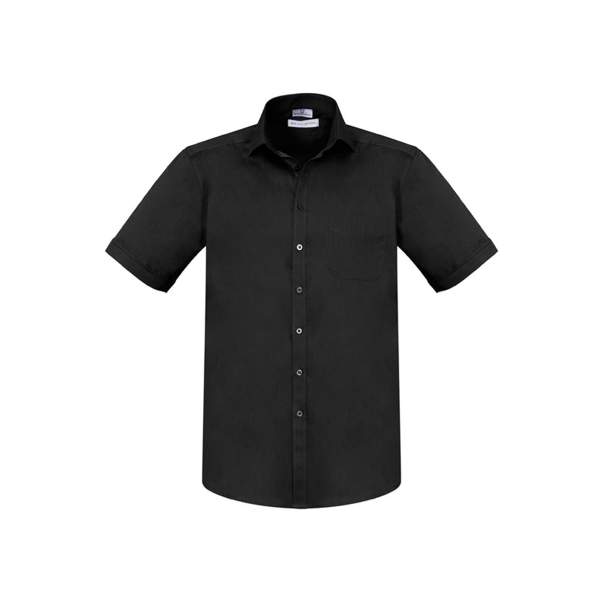 Mens Monaco Short Sleeve Shirt-Black