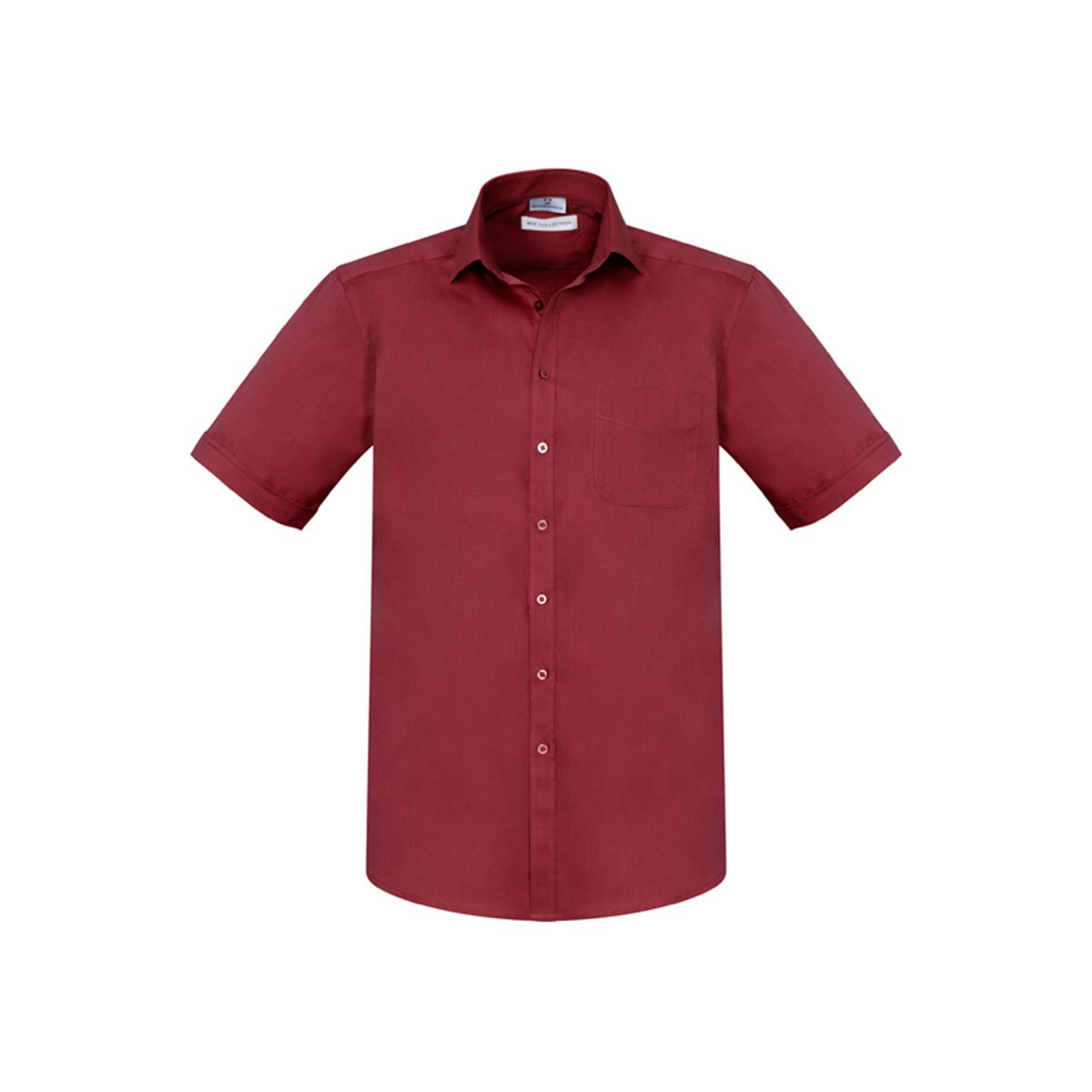 Mens Monaco Short Sleeve Shirt-Cherry