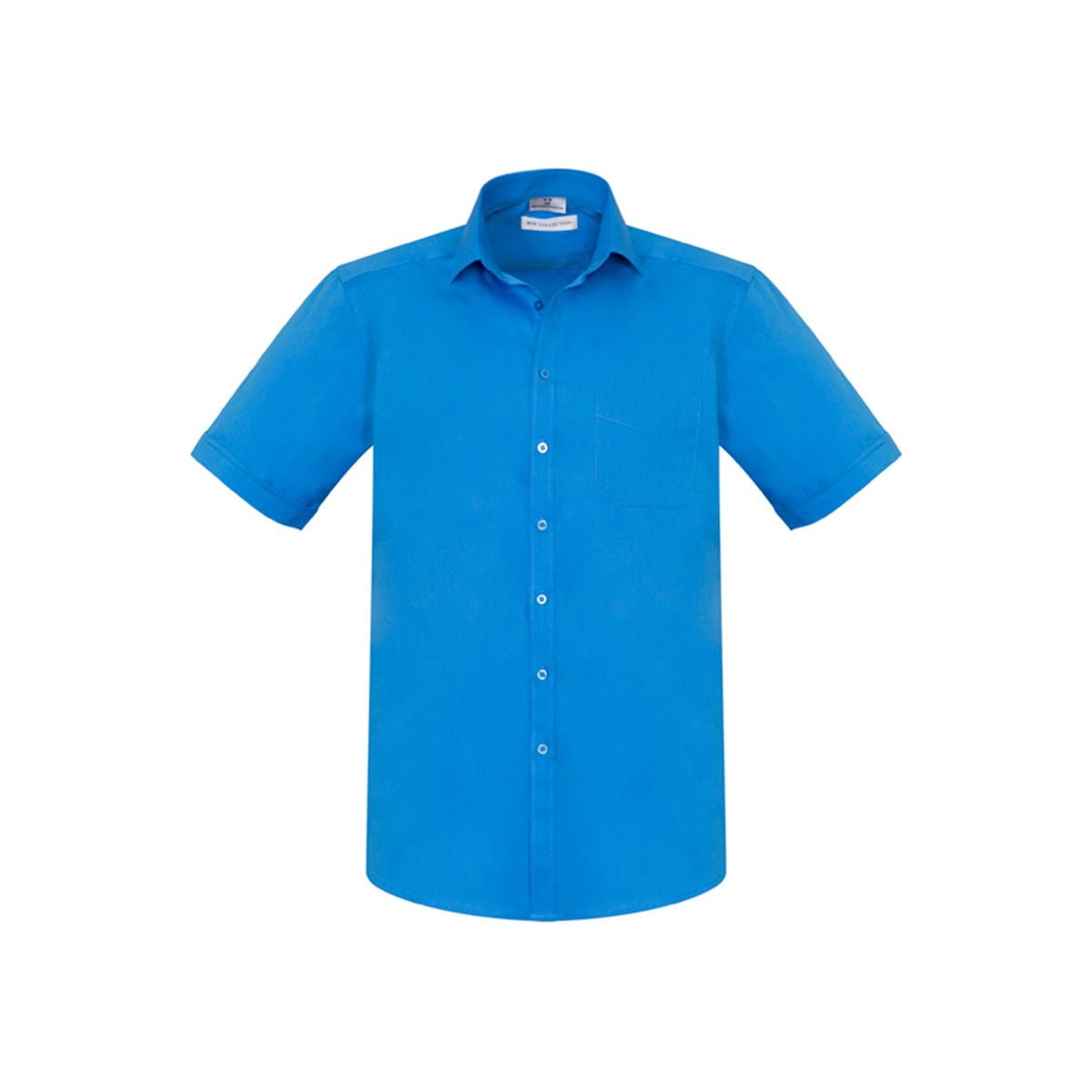 Mens Monaco Short Sleeve Shirt-Cyan