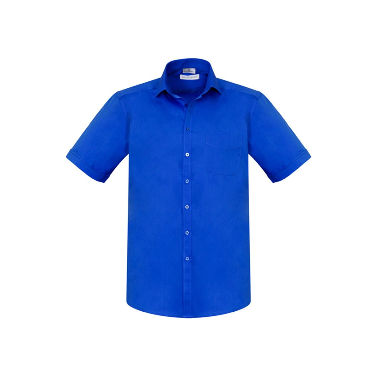 Mens Monaco Short Sleeve Shirt-Electric Blue