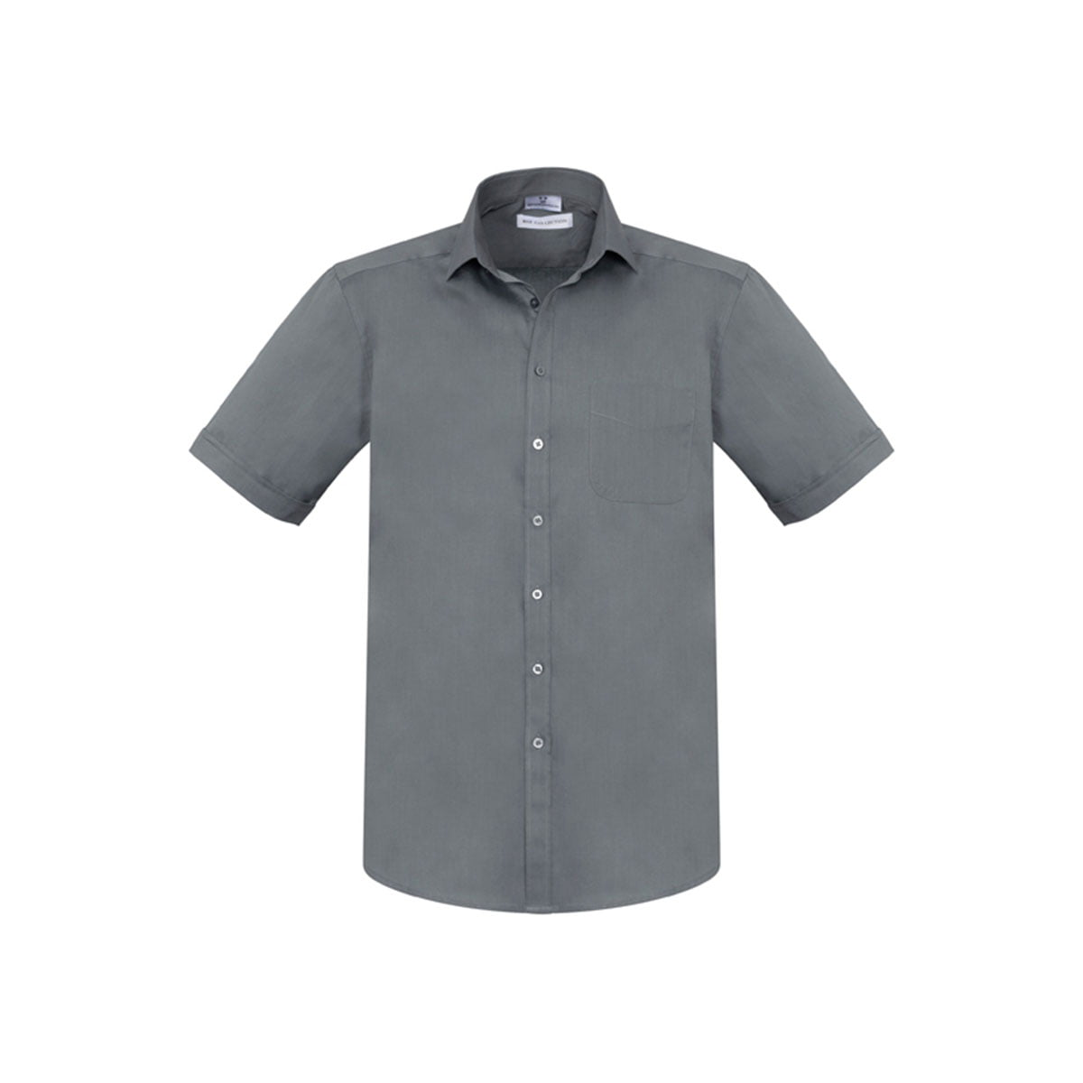 Mens Monaco Short Sleeve Shirt-Platinum