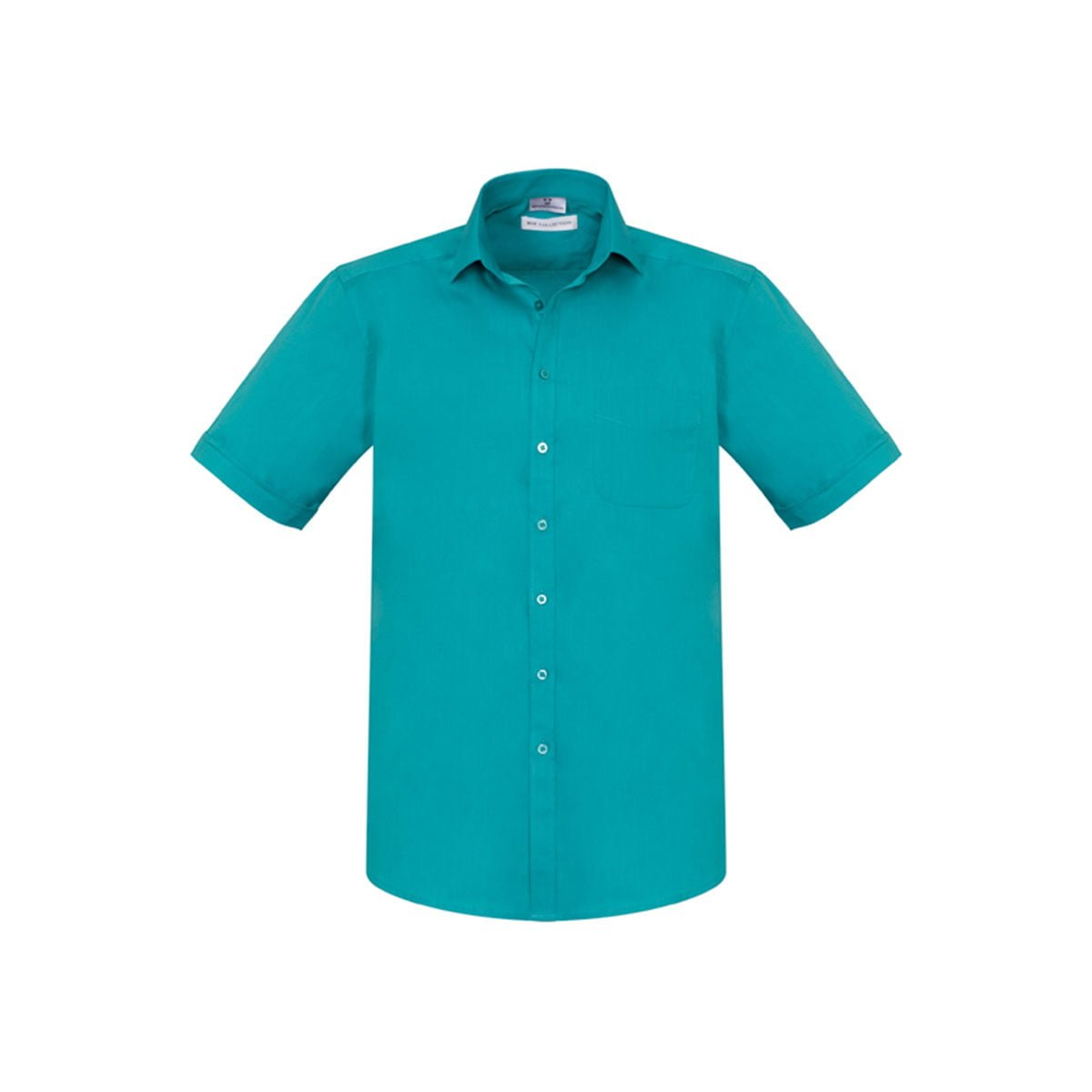 Mens Monaco Short Sleeve Shirt-Teal