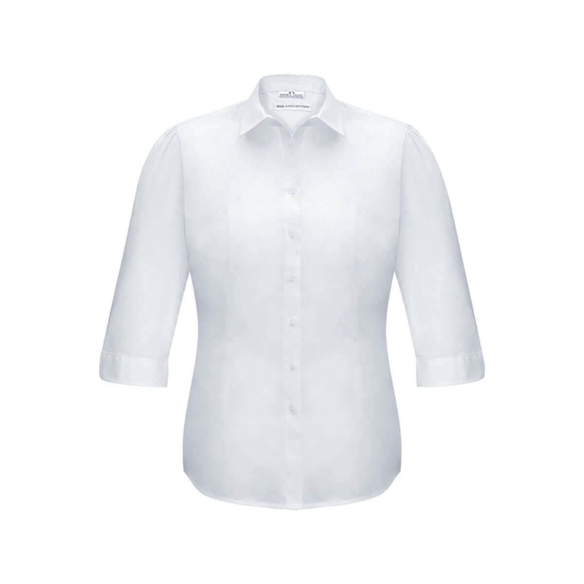 Ladies Euro 3/4 Sleeve Shirt-White