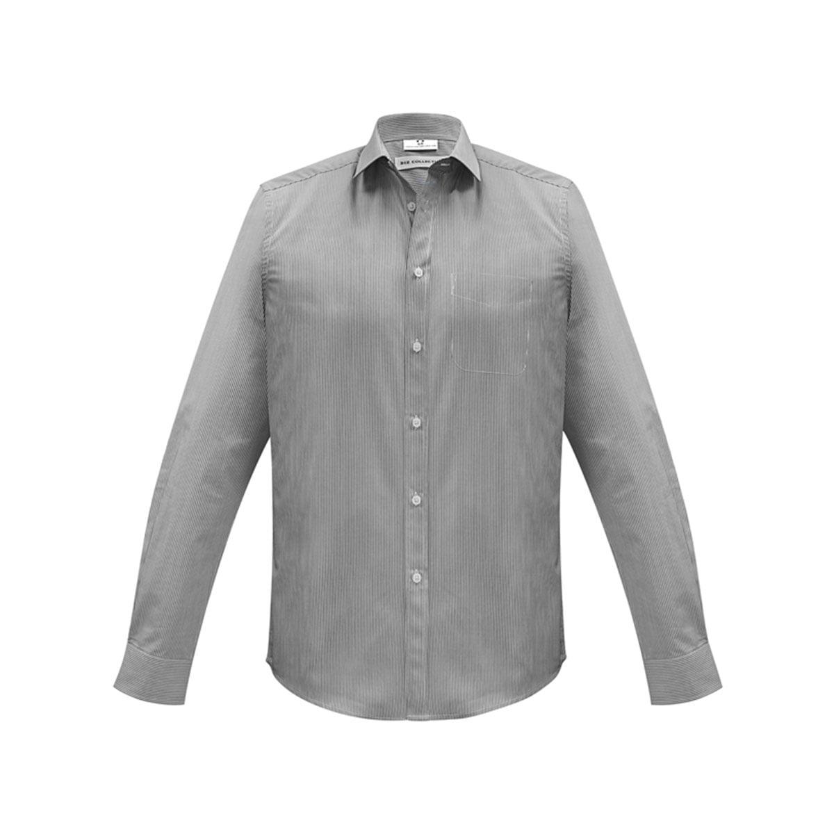 Mens Euro Long Sleeve Shirt-Black