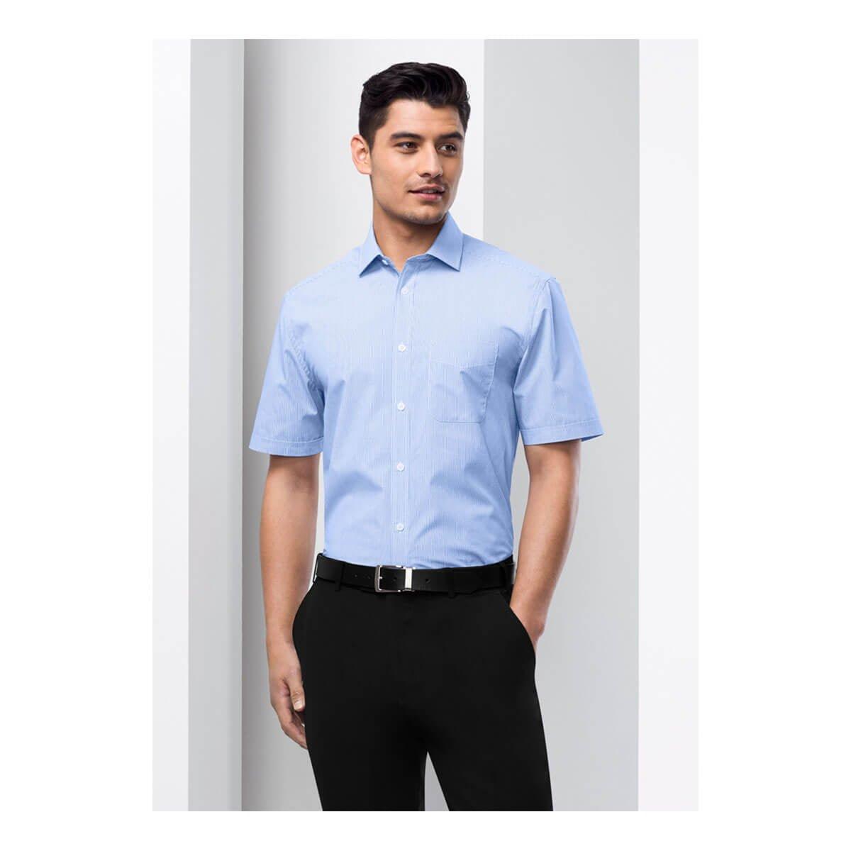 Mens Euro Short Sleeve Shirt