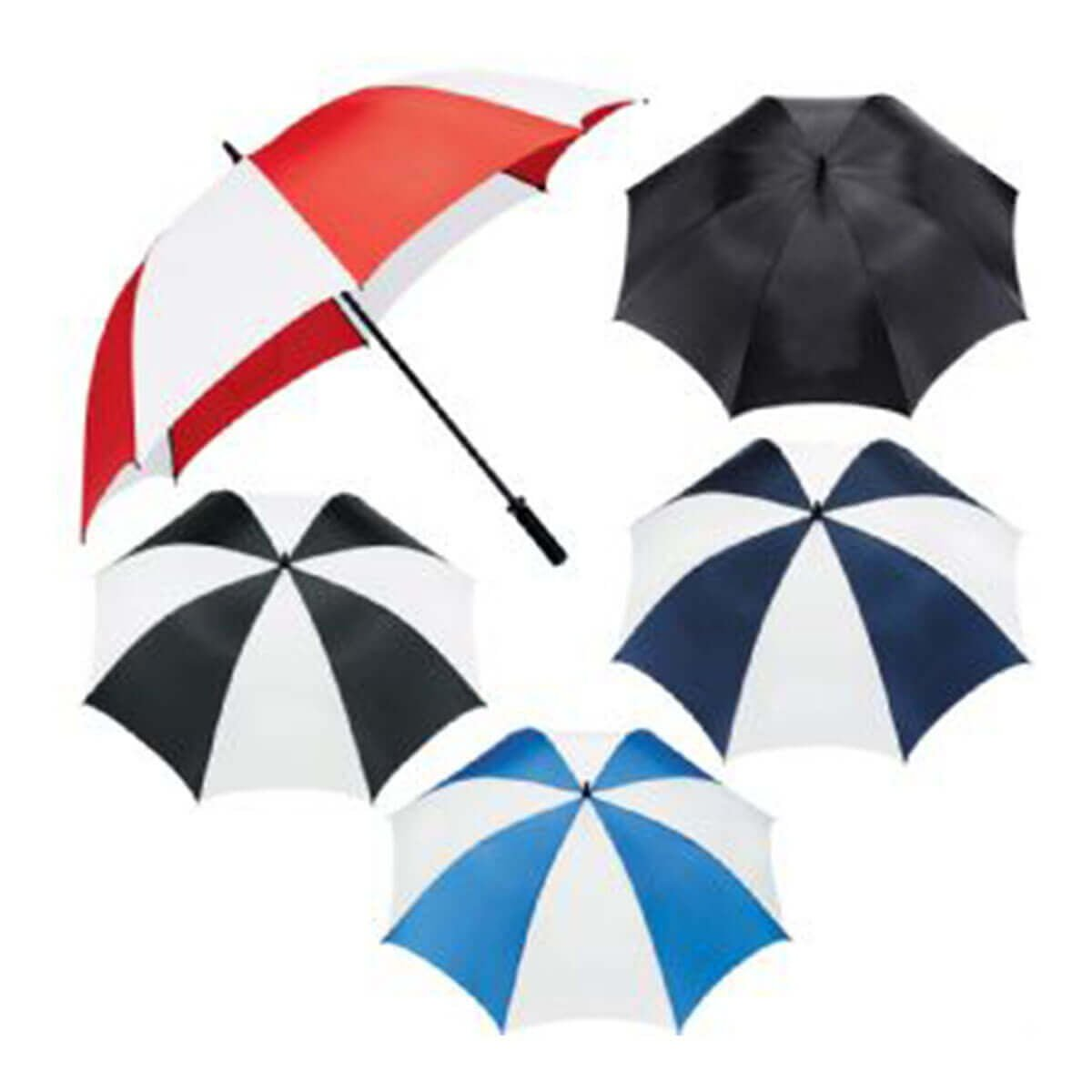 Tour Golf Umbrella-Black & White.