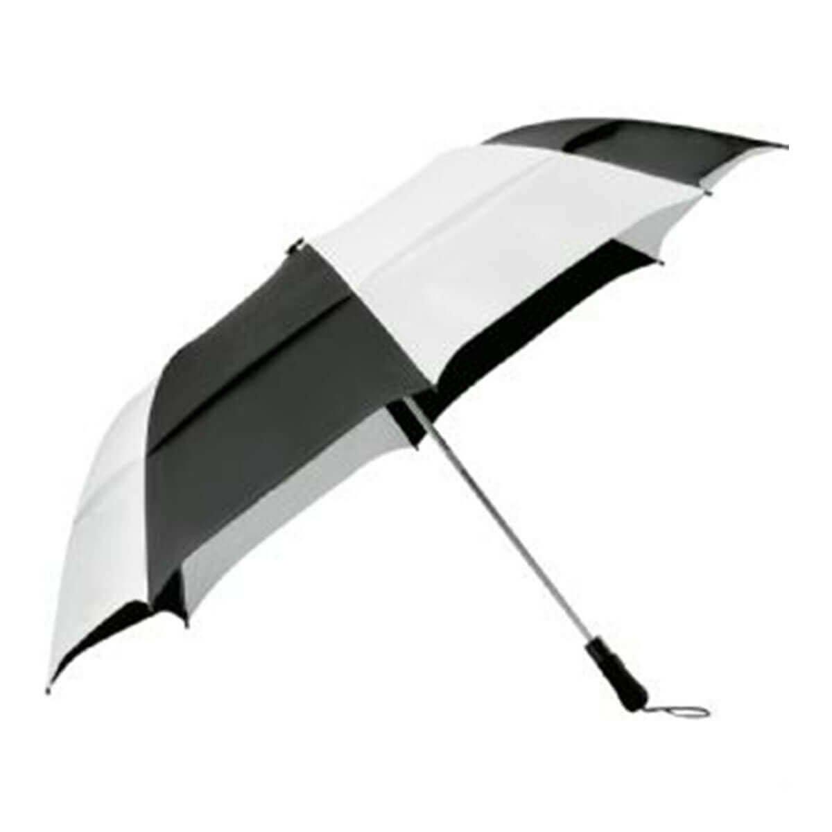 Vented Folding Umbrella-Black & White.