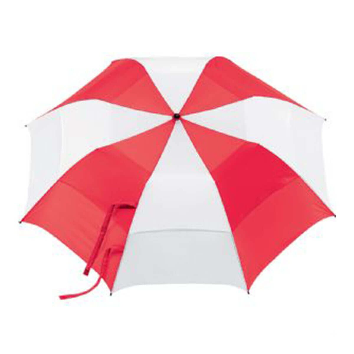 Vented Folding Umbrella-Red & White.