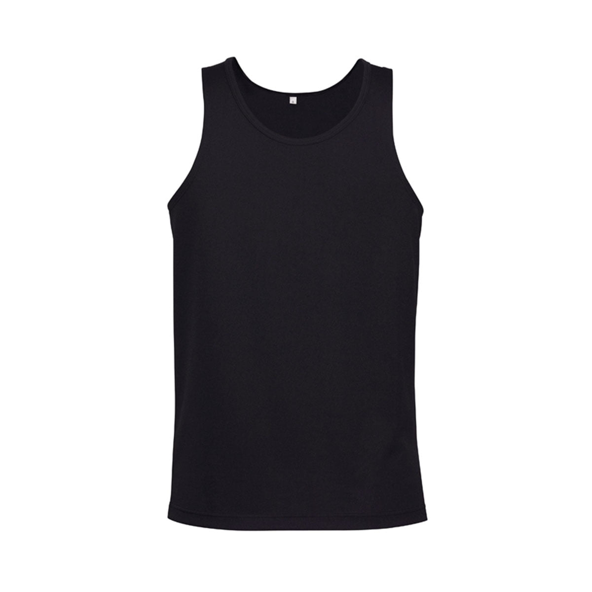 Mens Sprint Singlet-Black