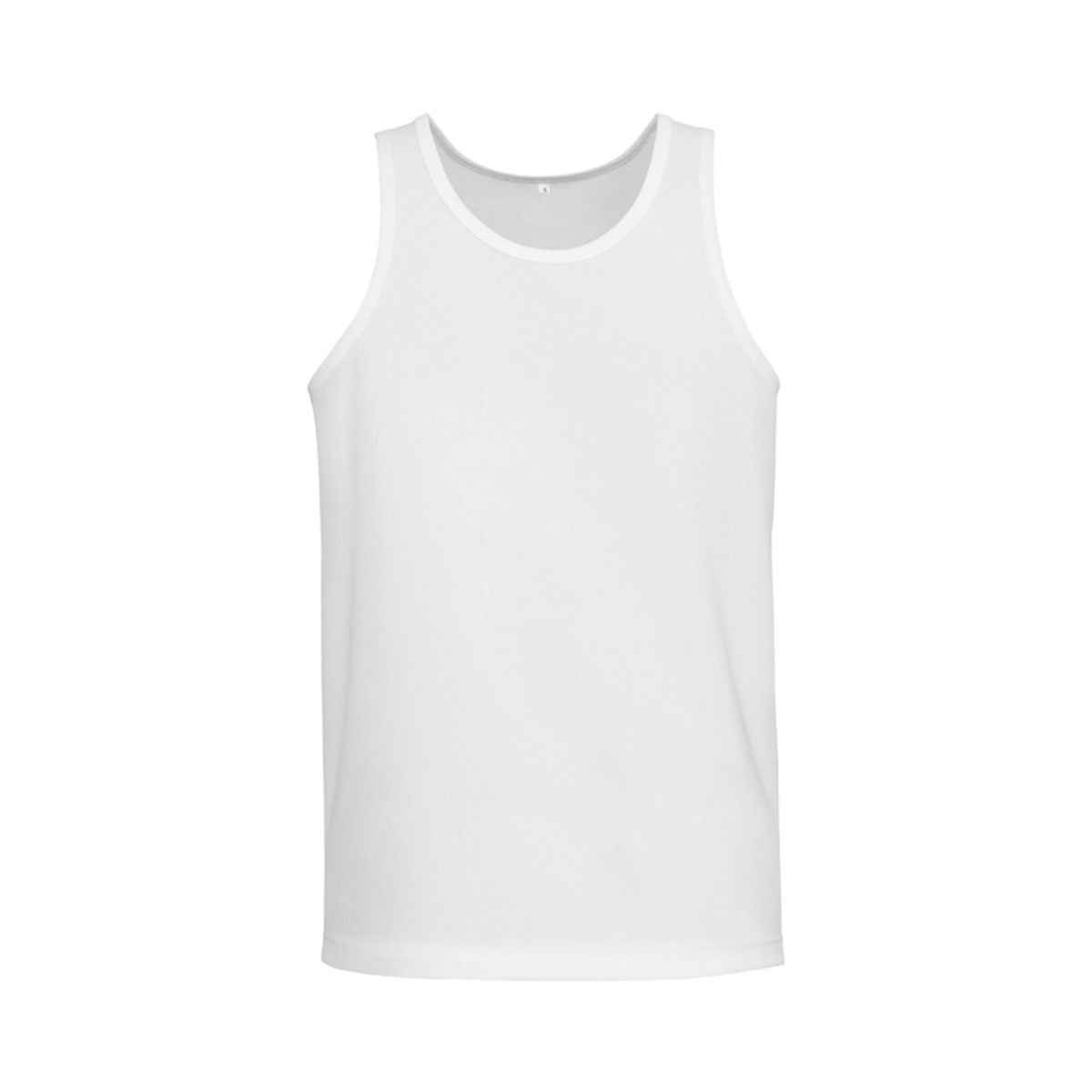 Mens Sprint Singlet-White