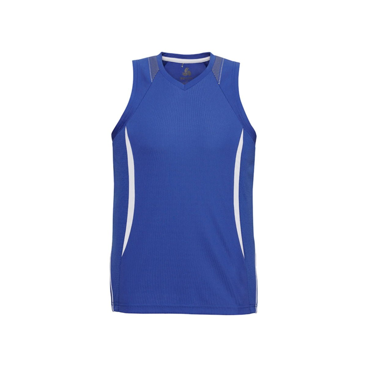 Mens Razor Singlet-Royal / White
