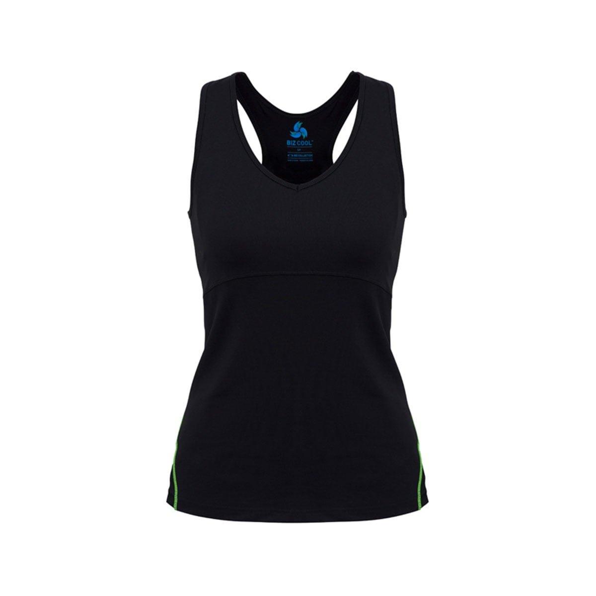 Ladies Maya Sports Bra Top-Black / Lime
