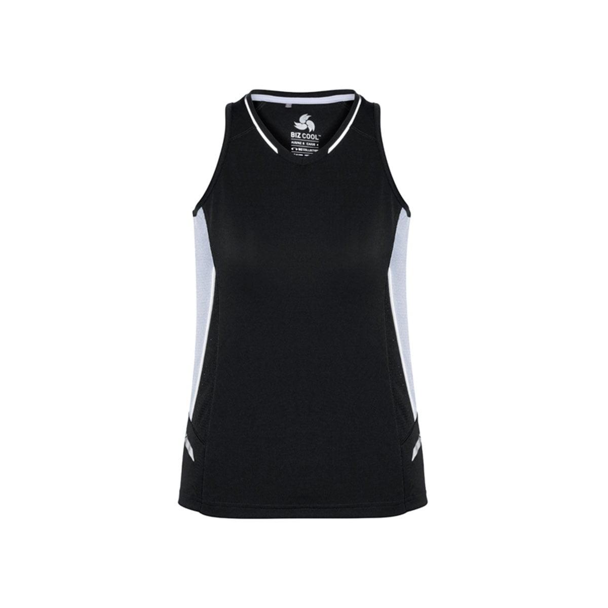 Ladies Renegade Singlet-Black / White / Silver