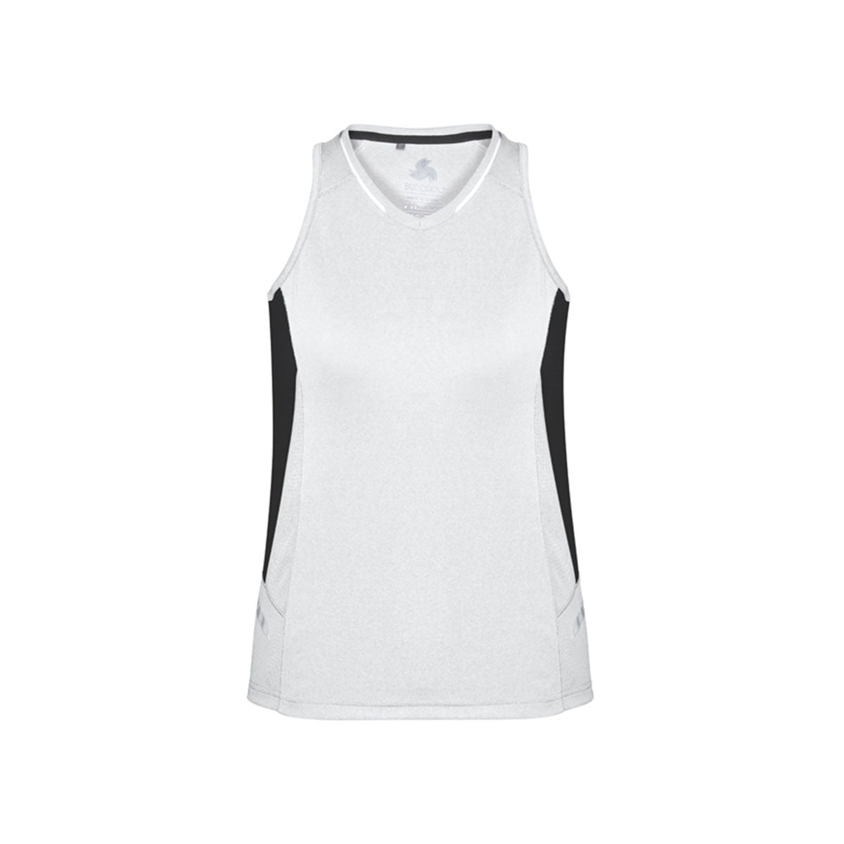 Ladies Renegade Singlet-White / Black / Silver