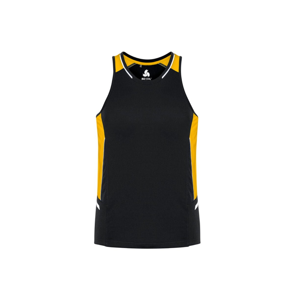 Mens Renegade Singlet-Black / Gold / Silver