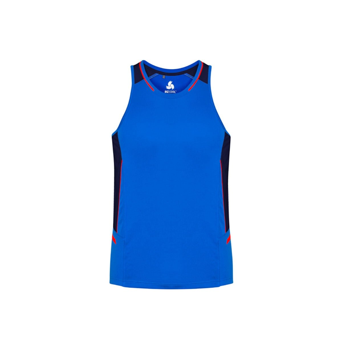 Mens Renegade Singlet-Royal / Navy / Fluoro Orange