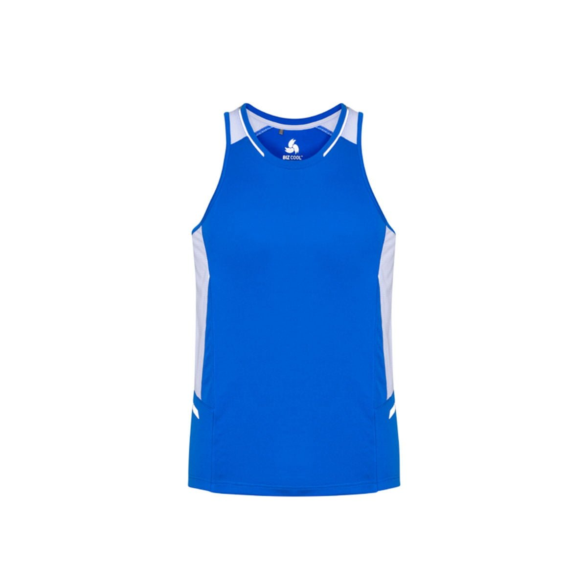 Mens Renegade Singlet-Royal / White / Silver