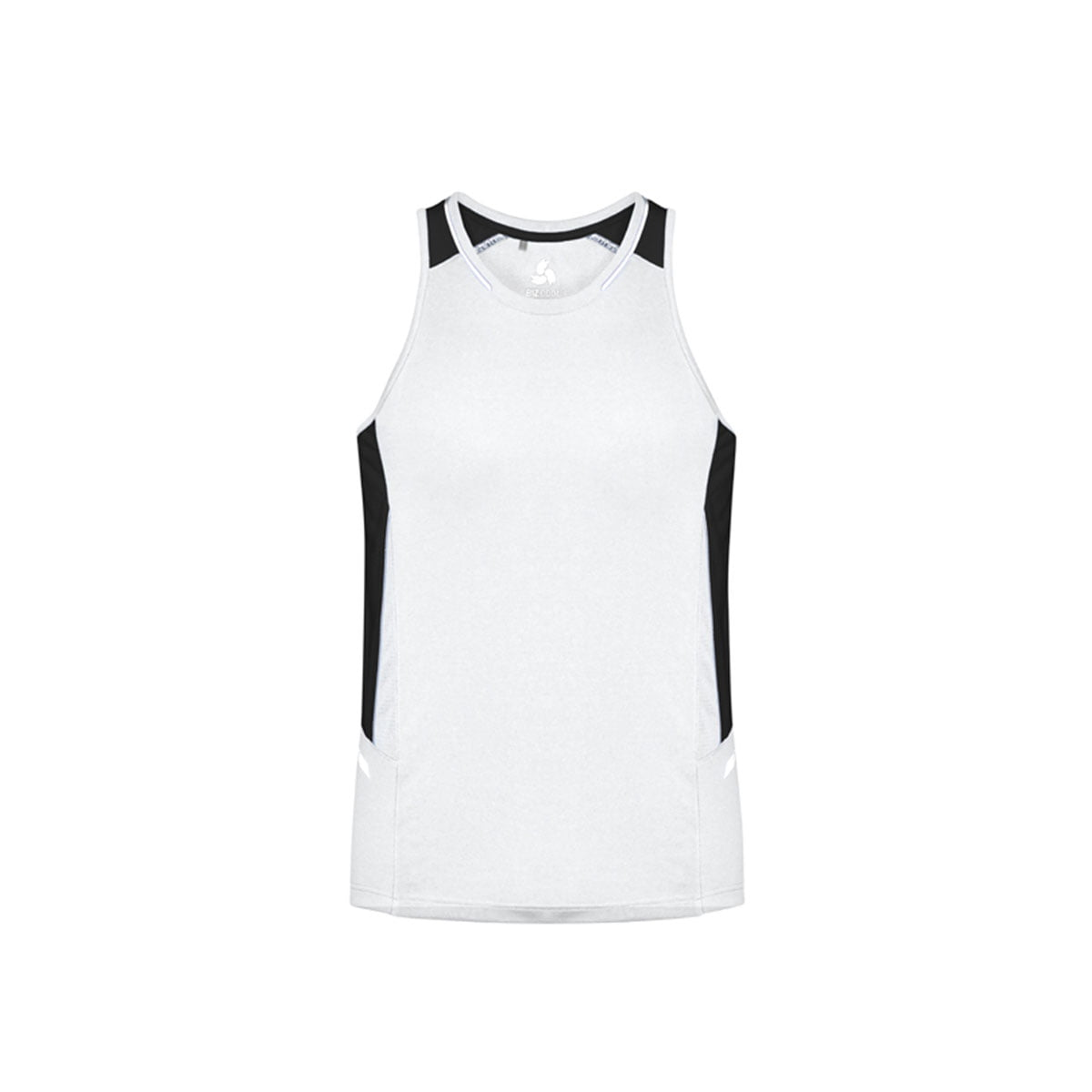 Mens Renegade Singlet-White / Black / Silver