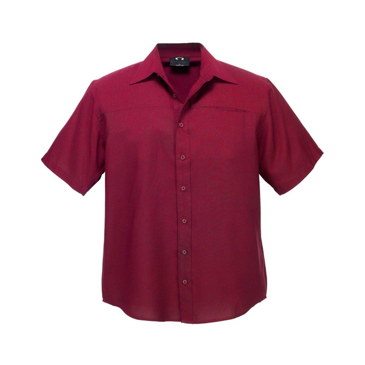 Mens Plain Oasis Short Sleeve Shirt-Cherry