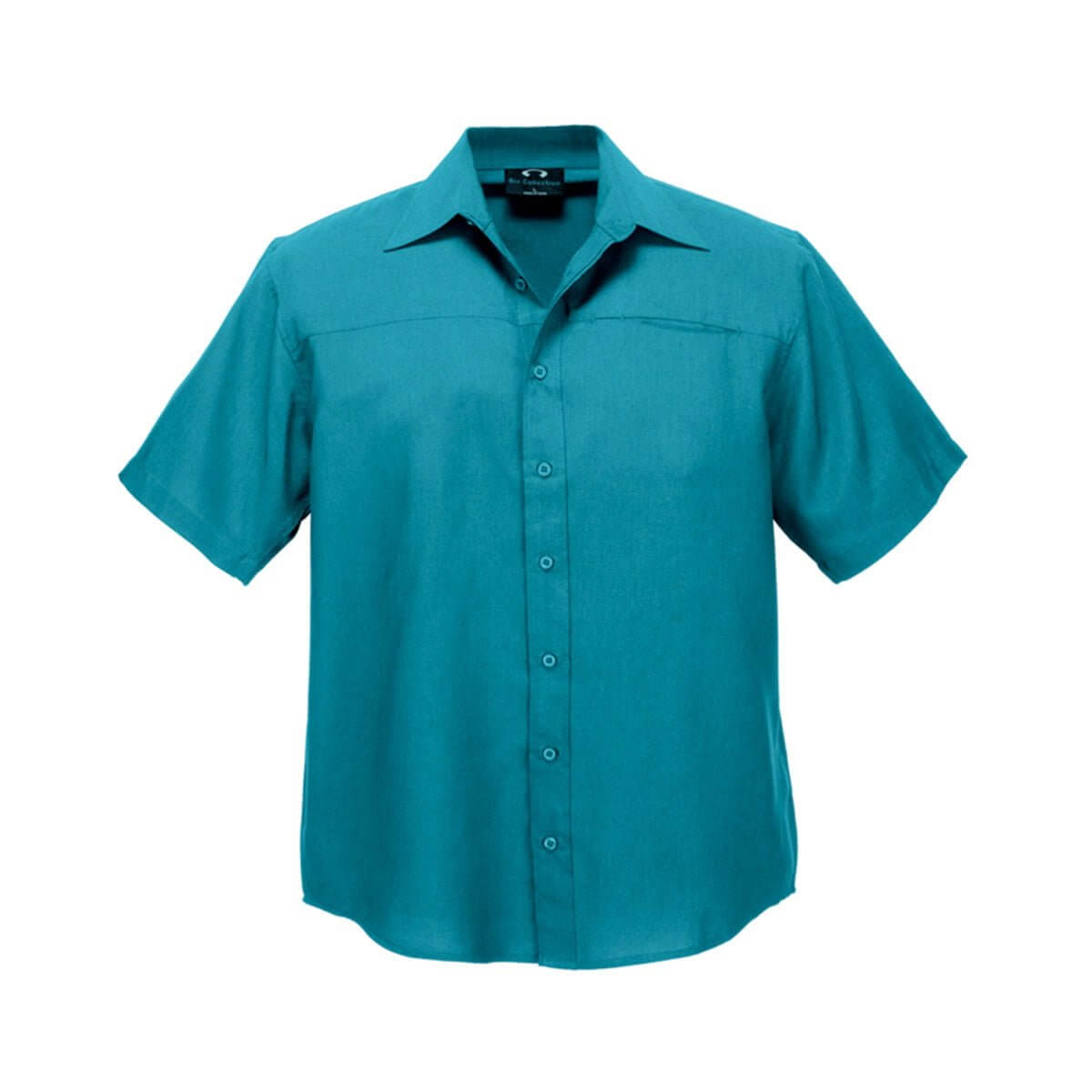 Mens Plain Oasis Short Sleeve Shirt-Teal