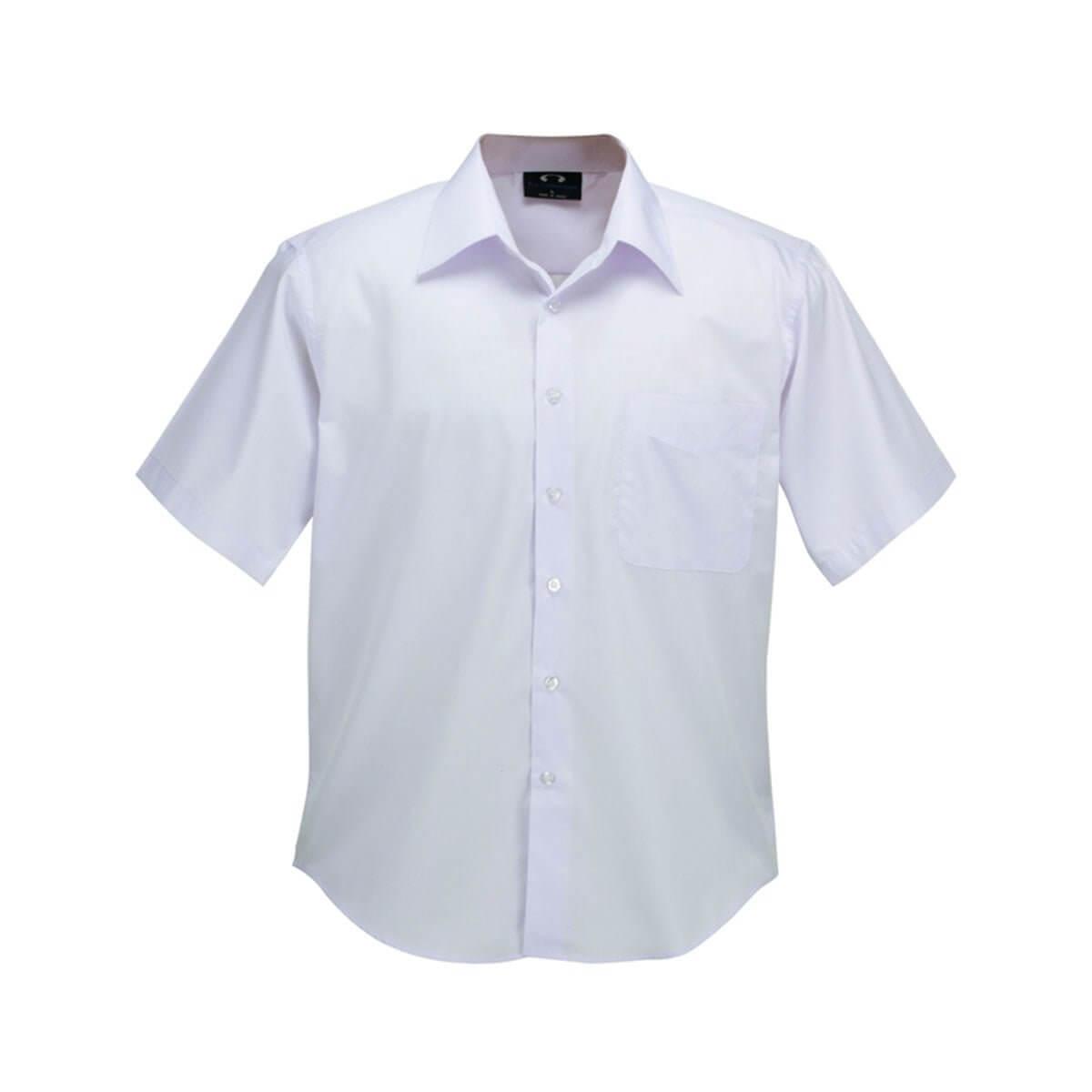 Mens Plain Oasis Short Sleeve Shirt-White