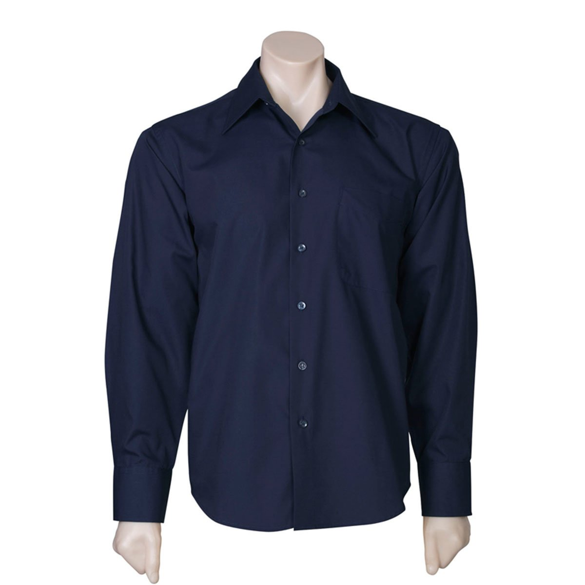 Mens Metro Long Sleeve Shirt-Navy