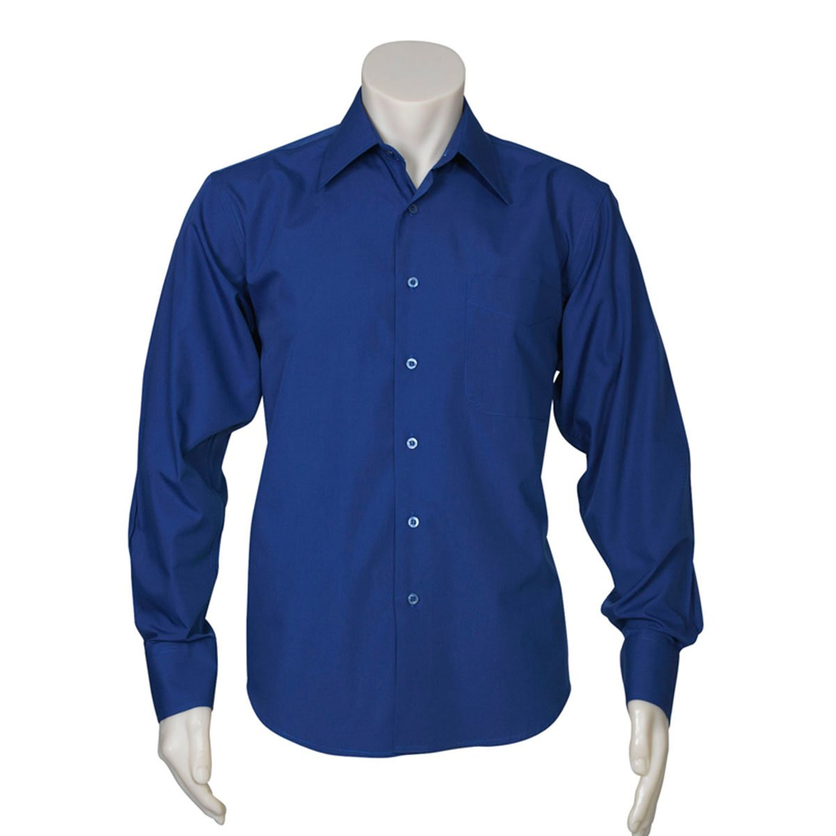 Mens Metro Long Sleeve Shirt-Royal