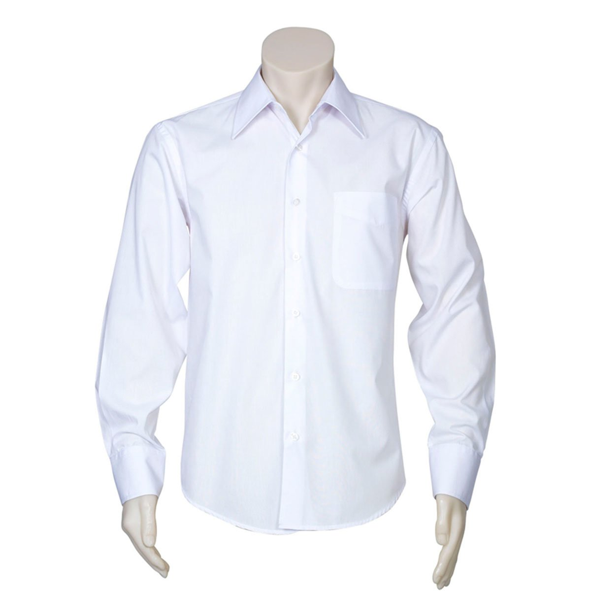 Mens Metro Long Sleeve Shirt-White