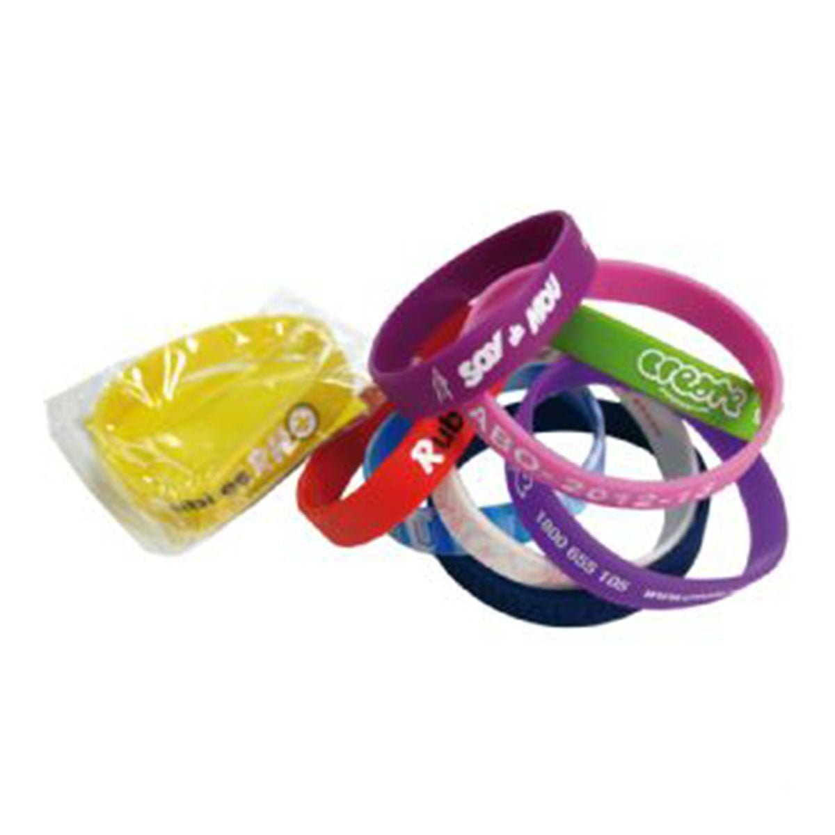 Standard 12mm Silicon Wristbands-Custom PMS Colour