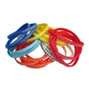 Thin 6mm Silicon Wristbands