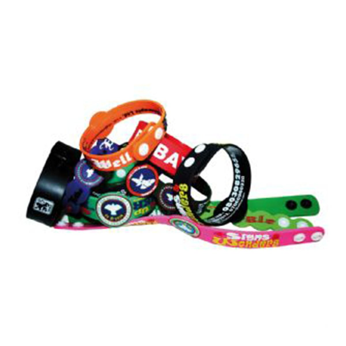 Press Stud Silicon Wristband-Custom PMS Colour