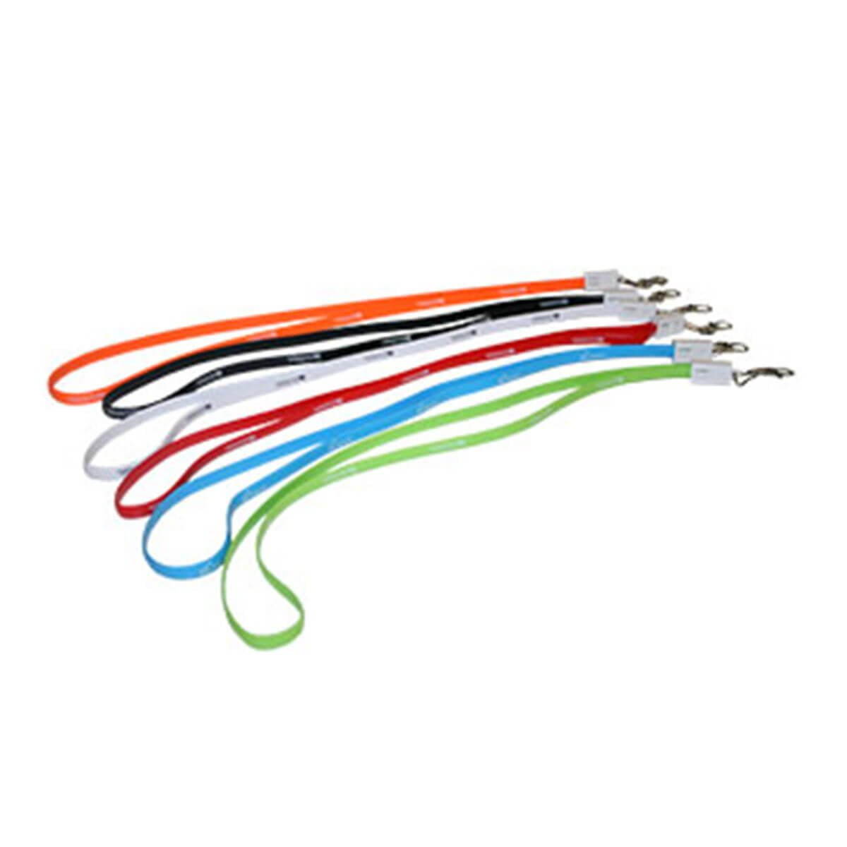 Charging Cable Lanyard with Clips-
