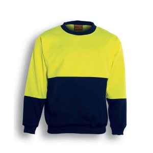 HI-VIS SLOPPY JOE - Lime / Navy