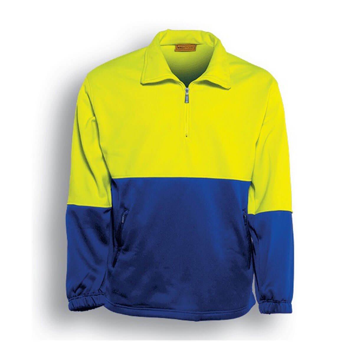 HI-VIS 1/2 ZIP FLEECE-Lime / Royal
