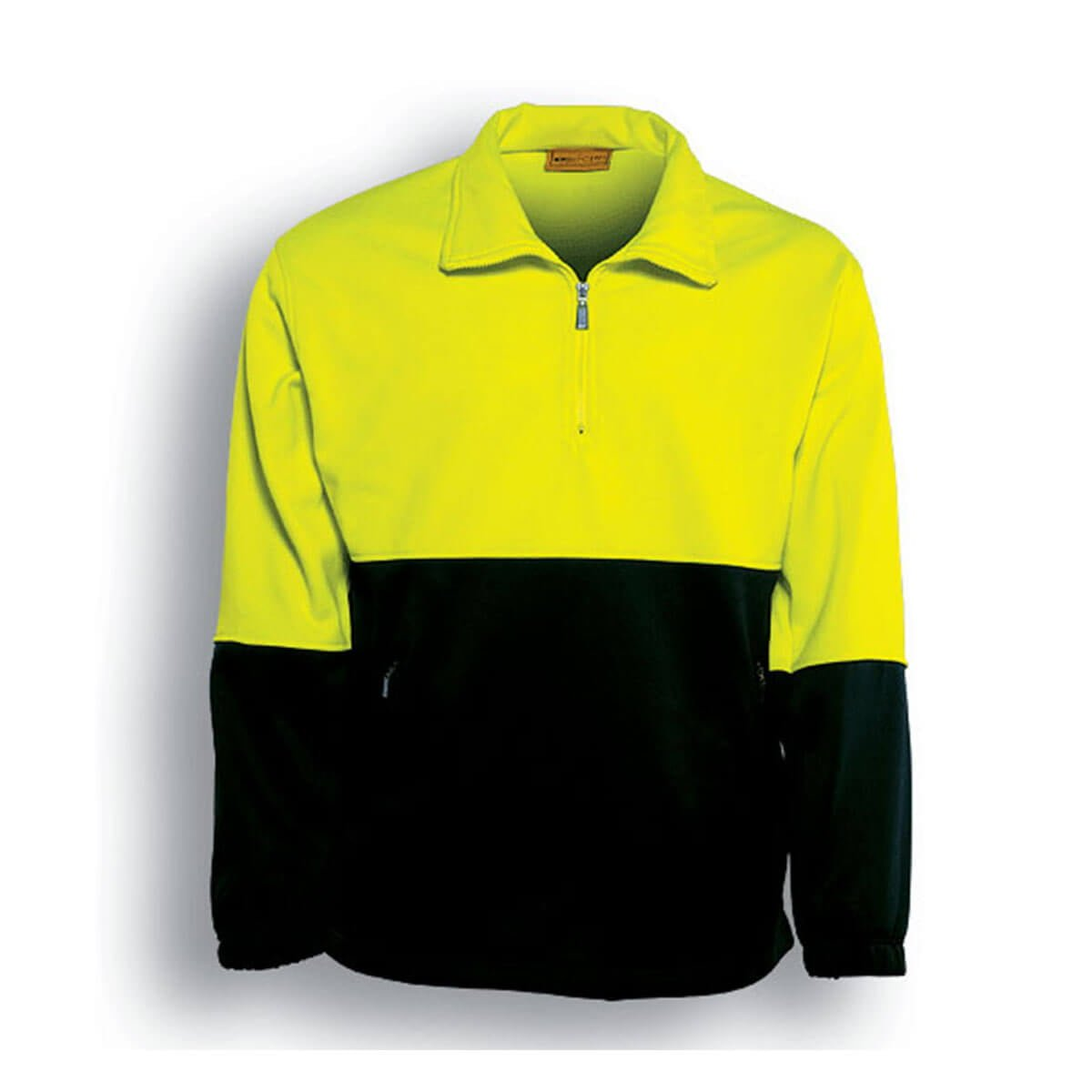 HI-VIS 1/2 ZIP FLEECE-Lime / Black
